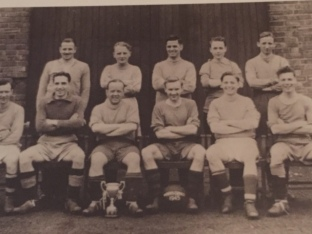 My dad, second from left at the back, with his team mates